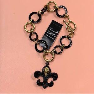 Inc black and gold bracelet